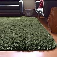ラグ ラグマット 洗える シャギー 3畳 約190cm×240cm グリーン 緑 SARAH サラ 毛足30mmのふわふわさらさらエアリーパイル おしゃれ ホットカーペット対応 軽量設計