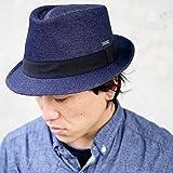 EdgeCity (エッジシティ) 児島デニム HAT 中折れハット FEDORA ハット 帽子 国産 日本製 岡山デニム okayama
