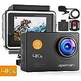 【進化版】APEMAN A79 アクションカメラ 4K高画質 WEBカメラ 2000万画素 外部マイク リモコン付き W…