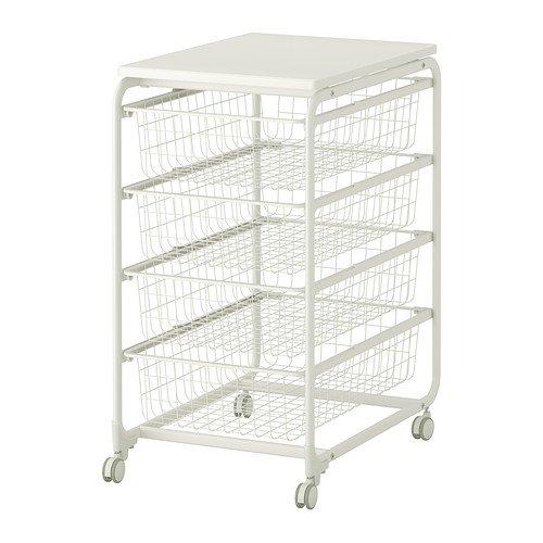 ALGOT フレーム/ワイヤーバスケット/トップシェルフ/キャスター,IKEA (099.094.50)