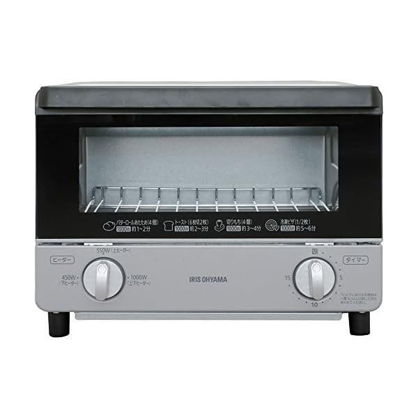 アイリスオーヤマ オーブントースター 温度調節機...の商品画像