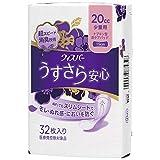 ウィスパー うすさら安心 女性用 吸水ケア 20cc 少量用 ナプキン型尿ケアパッド 32枚入り 19cm (少量の尿モレ用)
