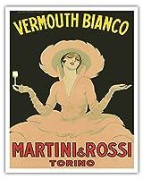 ベルモット?ビアンコ - マルティーニ&ロッシ - トリノ(トリノ)、イタリア - ビンテージな広告ポスター によって作成された マルチェロ Dudovich Unknown - アートポスター - 41cm x 51cm