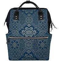 ママバッグ マザーズバッグ リュックサック ハンドバッグ 旅行用 古風 幾何学模様 ファション