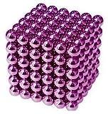 IMICHAEL 強力磁石の立体パズル ネオジム磁石 マグネットボール216個セット5MM (紫)