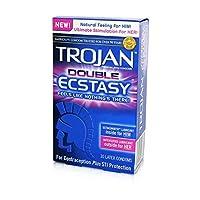 トロイのダブルエクスタシー潤滑コンドーム 5 Boxes (10 Condoms)