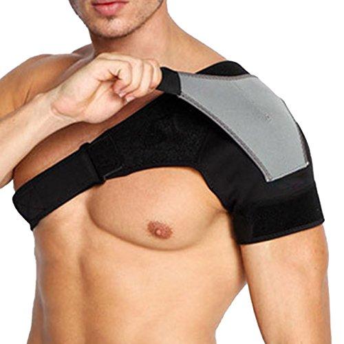 (アクアランド) (アクアランド) AQUALAND 肩 サポーター 肩痛 補助ベルト付き ショルダー 二重設計 簡単装着 圧迫 スポーツ 肩関節 肩の痛み 冷え 肩サポーター 肩コリ ストレッチ 安定 男女兼用 (左肩用)