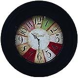 時計 壁掛け ウォールクロック ウッドクロック デザイン:Paris マッドブラック