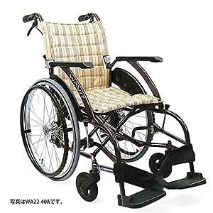 【車椅子】・アルミ自走式車いす WAVit(ウェイビット) [WA22-40・42S] ソフトタイヤ仕様 座幅40cm・カフェモカ