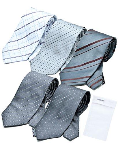 ビジネスマンサポート 洗えるネクタイ 5本セット 洗濯ネット付き p-a1b1c1d1e1