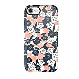 Speck Products Presidio Inked Cell Phone Case for iPhone 7 - Marbled Floral Peach Matte/Marine Blue [並行輸入品]