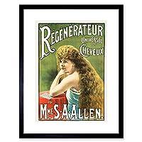 Ad Medicine Shampoo Susan Allen Hair Restorer France Framed Wall Art Print フランス壁