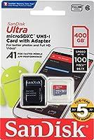microSDXC 400GB SanDisk サンディスク UHS-1 超高速U1 FULL HD アプリ最適化 Rated A1対応 専用SDアダプ付 【5年保証】 [並行輸入品]