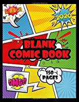 """Blank Comic Book 150 pages: Draw Your Own Comics A Large 8.5"""" x 11"""" Notebook and Sketchbook for Kids and Adults to Unleash Creativity (Blank Comic Books)"""