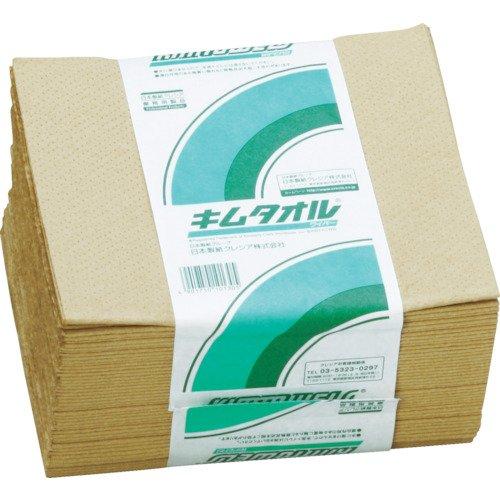 キムタオル 4つ折り 61001 ペーパーウエス 1ケース(1200組:50組×24束) 日本製紙クレシア