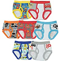 Disney Handcraft Little Boys Cars 7 Pack Brief, Multi, 2T/3T