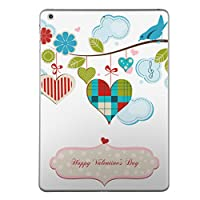 iPad Air2 スキンシール apple アップル アイパッド A1566 A1567 タブレット tablet シール ステッカー ケース 保護シール 背面 人気 単品 おしゃれ ラブリー 鳥 花 バレンタイン 005285