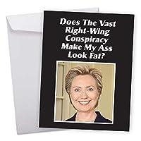 Right Wing Fat Ass誕生日ユーモアカード 1 Jumbo Birthday Card & Enve. (J0569BDG)