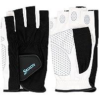 SRIXO|#SRIXON(スリクソン) テニス メンズ用 シリコンプリント グローブ ハーフタイプ (両手セット) SGG2590 ブラック