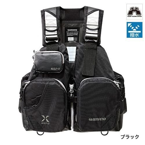 シマノ(SHIMANO) XEFO フローティングベスト タックルフロートジャケット (ベーシック) ブラック