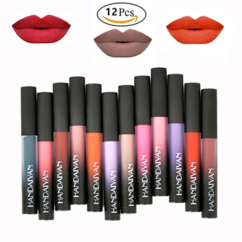 贅沢なピクニックワックス12 Colors Waterproof Long Lasting Durable Matte Liquid Lipstick Beauty Lip Gloss | Sexy Fashionable Colors Lipsticks...