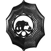 Bear & Cub Web Swirly Metal Wind Spinner 2602