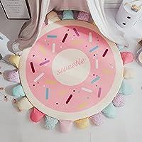 MeMoreCool Light Up YourホームNordic厚みKids Playマット、ラウンド畳with花びらデザイン、子供の部屋エリアラグ55インチ 55 inch jjdd1070-doughnut