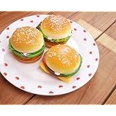 うわっ、どう見ても美味そうなハンバーガー!開くとミラーになってます♪【ハンバーガーコンパクトミラー レタストマトカツ】