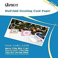 半分Foldingグリーティングカード用紙–200sheets 5.5X 8.5When Folded Double Sidesマットインクジェット用紙写真用紙