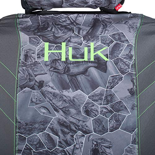 Huk Fishin Seat Cover, Unisex-Adult, Seat Cover, C000112100199, Freshwater Cell Gray, Single