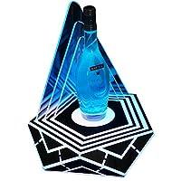 輝くダイヤモンドワインラック、ワインボトルホルダー照明ledイルミネーション充電式ワインシート装飾KTVバー誕生日パーティー、37 * 37 * 40 cm