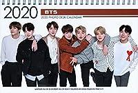 防弾少年団 BTS 【 卓上 カレンダー (写真集 カレンダー) 2020~2021年(2年分) 】+ ステッカーセット [3点セット] お急ぎ便対応
