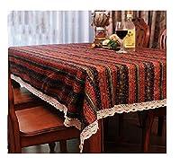 民族の縞模様のテーブルクロスボヘミアンテーブルクロスエレガントな洗える防塵装飾 (Color : A, Size : 55.1*78.7in)