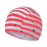 正規品 最新 スイムキャップ 男児 女児 スイム キッズ スクール水着 UVカットスイミング帽子 (ローズピンク)