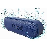 Tribit XSound Go Bluetooth スピーカー IPX7完全防水 ポータブルスピーカー Bluetooth5.0 スピーカー 24時間連続再生 ブルートゥーススピーカー TWS対応 低音強化/内蔵マイク搭載 ブルー BTS20