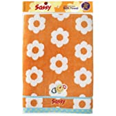 Sassy バスタオル 袋入 オレンジフラワー NZSA97301
