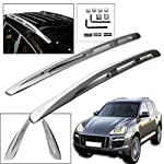 Wotefusi Car New Aluminium Alloy Luggage Carrier Roof Rack Side Rail Bars Mount Mounting For Porsche Cayenne 2008 2009 2010