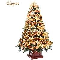 クリスマスツリー ウッドベースツリー コパー 組み立て式 150cm