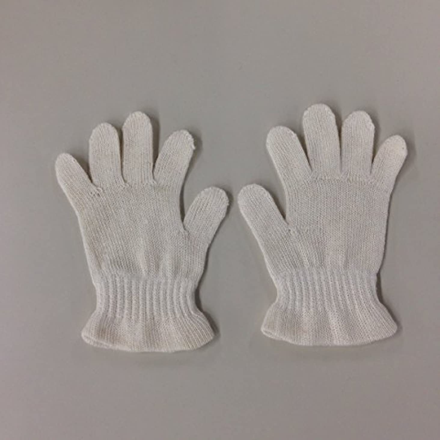 ライム羊の乱闘(ASAFUKU) 麻福 おやすみ 手袋 肌に優しい ヘンプ素材 乾燥対策 Bサイズ(幼児~園児用))
