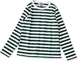 (ドミンゴ) DMG カットソー Tシャツ 長袖 ボーダー コットン レディース ファッション 服 ナチュラル 秋 冬 おしゃれ 長袖コットン ボーダーT 19-021N  2(M) オリーブグリーン(48-9)