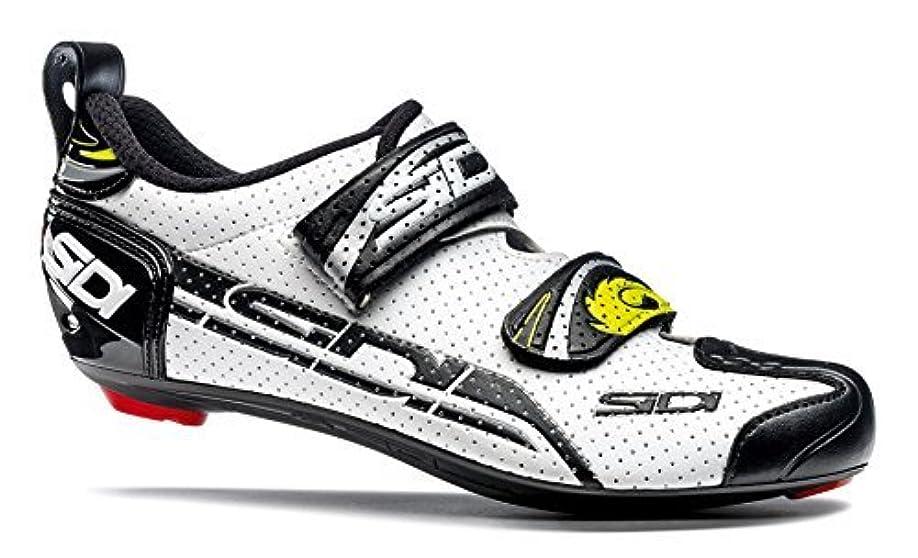 ピッチアラブサラボボーカルSidi T-4 Air Carbon Triathlon Shoes (EU 39 White/Black) [並行輸入品]