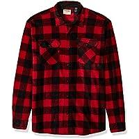 Wrangler Authentics Men's Long Sleeve Heavyweight Plaid Fleece Shirt