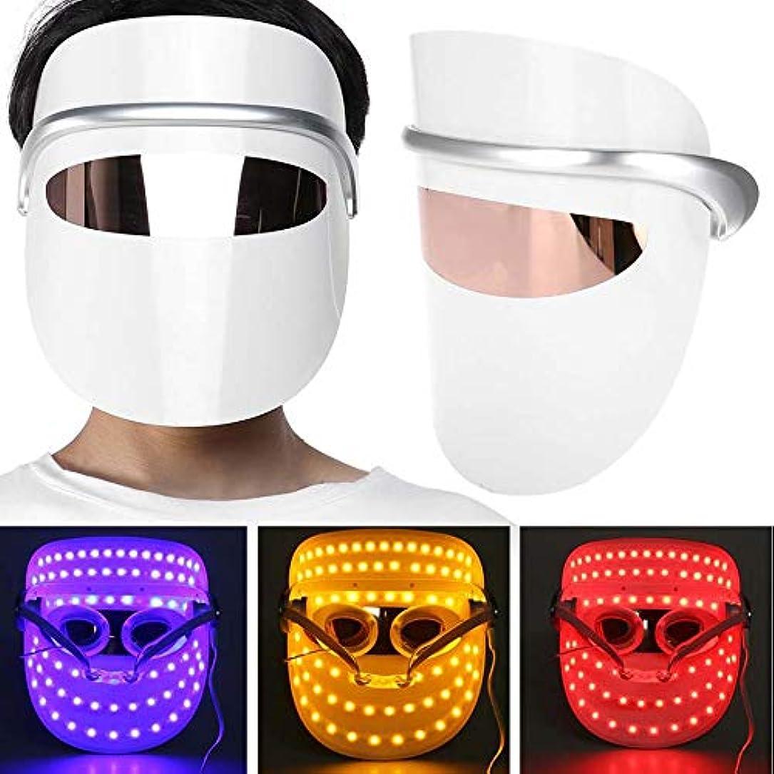 器官避けられない面倒ライトセラピーにきび治療LEDは3色のマスクLEDライトセラピーフェイスはアンチリンクルファーミングの肌の若返りケアマスクセラピー顔美容セラピーマスク主導
