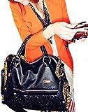 チンプンチャンプン アニマル ヒョウ 柄 × スパンコール フリンジ デザイン 個性的 ショルダー ハンド バッグ 豹 プリント