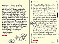 Quiplip Handwritten Yours Truly Birthday Cards 6-Pack (YT11166PCK) [並行輸入品]