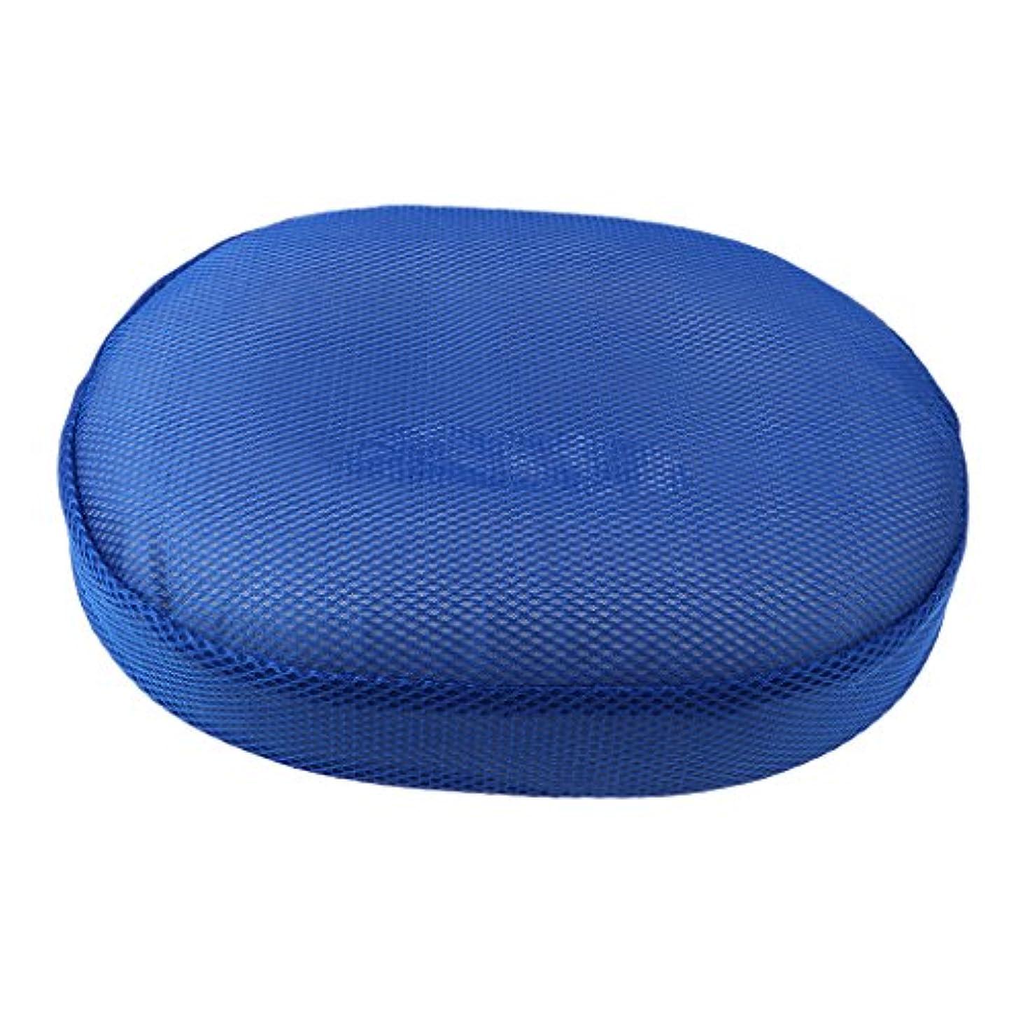 アラブサラボ議題器用低反発 円座 クッション ドーナツ型 腰痛 痔 産後 美尻 座布団 骨盤 腰痛軽減 全3色 - 青