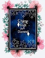 明るいと同様にAダイヤモンドインスピレーション愛ポジティブ引用ポスターウォールシャイン