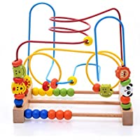 Liushuliang Wooden Beads Maze Roller Coaster Educational Toys For Toddler Kids, For Children Early Educational Development