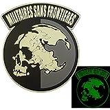 夜の暗闇で光る Militaires Sans Frontieres メタルギア ソリッド ピースウォーカー PVC 3D ベルクロ面ファスナー パッチ Patch