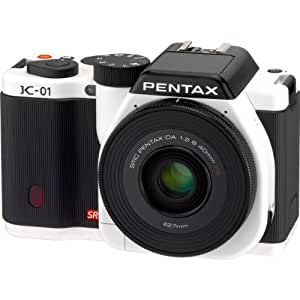 PENTAX ミラーレス一眼カメラ K-01レンズキット ホワイト/ブラック K-01LK WH/BK